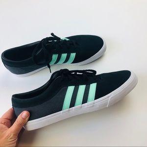 Adidas three stripe campus suede black sneakers